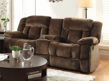Laurelton Chocolate Double Glider Reclining Loveseat Available Online in Dallas Fort Worth Texas