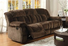 Homelegance Laurelton Chocolate Double Reclining Sofa Available Online in Dallas Fort Worth Texas