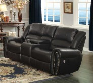 Homelegance Center Hill Black Power Double Reclining Loveseat Available Online in Dallas Fort Worth Texas
