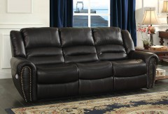 Homelegance Center Hill Black Power Double Reclining Sofa Available Online in Dallas Fort Worth Texas