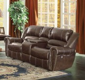 Homelegance Center Hill Dark Brown Power Double Reclining Loveseat Available Online in Dallas Fort Worth Texas