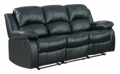 Homelegance Cranley Black Power Double Reclining Sofa Available Online in Dallas Fort Worth Texas