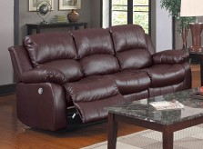 Homelegance Cranley Brown Power Double Reclining Sofa Available Online in Dallas Fort Worth Texas