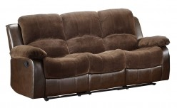 Homelegance Cranley Chocolate 2-Tone Power Double Reclining Sofa Available Online in Dallas Fort Worth Texas