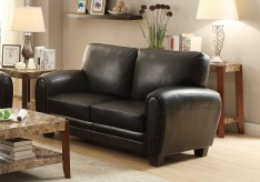 Rubin Black Loveseat Available Online in Dallas Fort Worth Texas