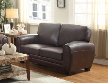 Rubin Dark Brown Loveseat Available Online in Dallas Fort Worth Texas