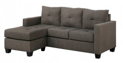 Homelegance Phelps Brown-Grey Sofa Chaise Available Online in Dallas Fort Worth Texas