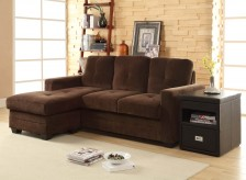Homelegance Phelps Chocolate Sofa Chaise Available Online in Dallas Fort Worth Texas