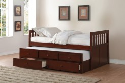 Rowe Dark Cherry Twin/Twin Trundle Bed Available Online in Dallas Fort Worth Texas