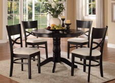 Homelegance Clancy 5pc Warm Black Dining Table Set Available Online in Dallas Fort Worth Texas