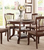 Homelegance Frankford Brown Round Dining Table Available Online in Dallas Fort Worth Texas