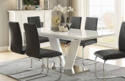 Homelegance Yannis White Rectangular Dining Table with Butterfly Leaf Available Online in Dallas Fort Worth Texas