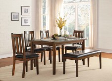 Homelegance Delmar 6pc Burnished Brown Dining Table Set Available Online in Dallas Fort Worth Texas