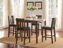 Homelegance Delmar 6pc Burnish Brown Counter Height Dining Room Set Available Online in Dallas Fort Worth Texas