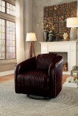 Homelegance Moderne Dark Brown Swivel Chair Available Online in Dallas Fort Worth Texas