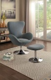 Homelegance Thrive Grey Swivel Chair and Ottoman Available Online in Dallas Fort Worth Texas