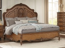 Moorewood Park Pecan Queen Bed Available Online in Dallas Fort Worth Texas