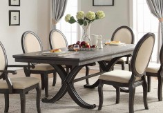 Homelegance Lindley Dusty Gray Dining Table Available Online in Dallas Fort Worth Texas