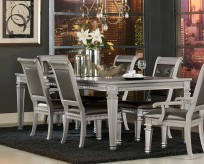 Homelegance Bevelle Silver Dining Table Available Online in Dallas Fort Worth Texas