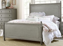 Aviana Grey Queen Poster Bed Available Online in Dallas Fort Worth Texas