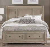 Bethel Grey King Sleigh Platform Bed Available Online in Dallas Fort Worth Texas
