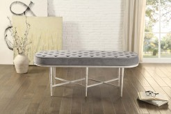 Homelegance Qirin White Bench Available Online in Dallas Fort Worth Texas