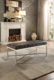 Homelegance Nestor Silver Bench Available Online in Dallas Fort Worth Texas