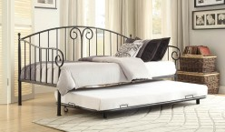 Homelegance Courtney Black Metal Daybed with Trundle Available Online in Dallas Fort Worth Texas