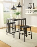 Homelegance Edgar 3pc Black Counter Height Dining Room Set Available Online in Dallas Fort Worth Texas