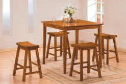 Saddleback 5pc Oak Counter Height Dining Room Set Available Online in Dallas Fort Worth Texas