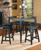 Saddleback 5pc Black Counter Height Dining Room Set Available Online in Dallas Fort Worth Texas