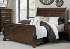 Schleiger Brown Queen Sleigh Bed Available Online in Dallas Fort Worth Texas