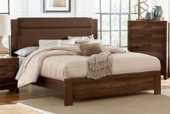 Sedley Walnut Queen Upholstered Bed Available Online in Dallas Fort Worth Texas