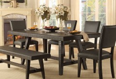 Homelegance Fenwick Dark Gray Rectangular Dining Table Available Online in Dallas Fort Worth Texas
