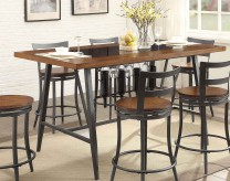 Homelegance Selbyville Cherry/Gunmetal Counter Height Table Available Online in Dallas Fort Worth Texas