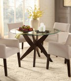 Homelegance Massey Espresso Round Glass Top Dining Table Available Online in Dallas Fort Worth Texas