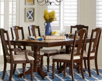 Homelegance Glendive Brown Cherry Dining Table Available Online in Dallas Fort Worth Texas