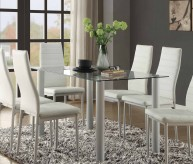Homelegance Florian White Dining Table Available Online in Dallas Fort Worth Texas