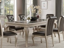 Homelegance Crawford Silver Dining Table Available Online in Dallas Fort Worth Texas