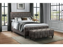 Homelegance Elista Dark Grey Upholstered King Bed Available Online in Dallas Fort Worth Texas
