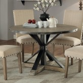 Coaster Tobin Driftwood Grey Round Dining Table Available Online in Dallas Fort Worth Texas