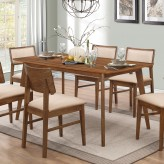 Coaster Sasha Walnut Rectangular Dining Table Available Online in Dallas Fort Worth Texas