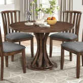 Coaster Prescott Vintage Cinnamon Round Dining Table Available Online in Dallas Fort Worth Texas