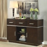 Coaster Lincoln Dark Walnut Server Available Online in Dallas Fort Worth Texas