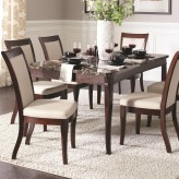 Cornett Dark Brown Dining Table Available Online in Dallas Fort Worth Texas