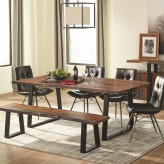 Coaster Jamestown Grey and Black Dining Table Available Online in Dallas Fort Worth Texas