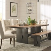 Coaster Marquette Brown Rectangular Dining Table Available Online in Dallas Fort Worth Texas