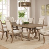 Coaster Glen Cove Weathered Extendable Rectangular Dining Table Available Online in Dallas Fort Worth Texas