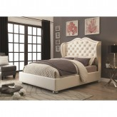 Coaster Clarice Cream Queen Platform Bed Available Online in Dallas Fort Worth Texas
