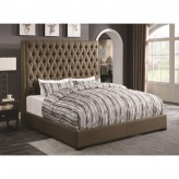 Coaster Camille Brown Queen Platform Bed Available Online in Dallas Fort Worth Texas